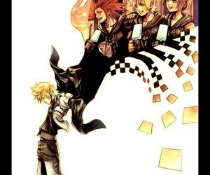 axel, kingdom hearts, and roxas image