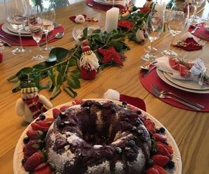 decor, natal, and mesa de natal image