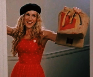 sex and the city, McDonalds, and carrie image