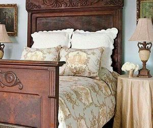 antiques, farmhouse style, and bedroom image