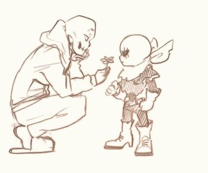 flowers, undertale, and swap!papyrus image