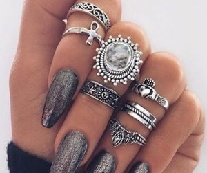 glam, nails, and rings image