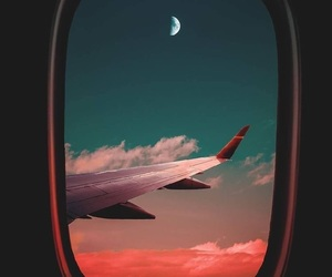 sky, moon, and travel image