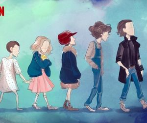 eleven, stranger things, and netflix image