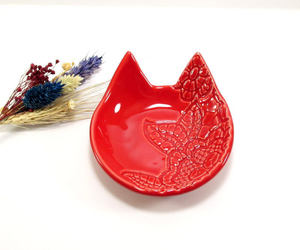 etsy, housewarming gift, and clay cat dish image