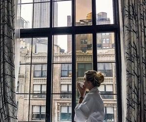 girl and morning image