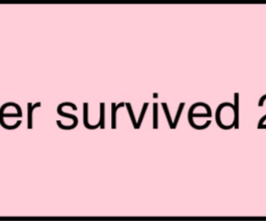 new year, pink, and survival image