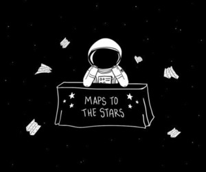 stars, astronaut, and space image