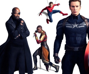Marvel, captain america, and spiderman image