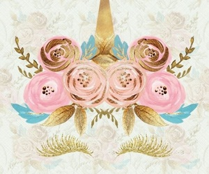 unicorn, rose, and wallpaper image