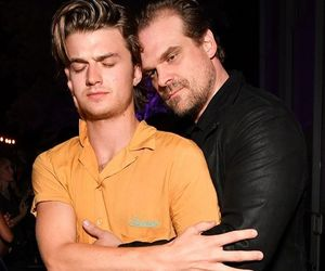 david harbour, joe keery, and stranger things image
