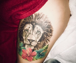 ink, liontattoo, and inked image