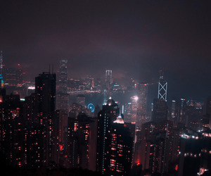city, night, and light image