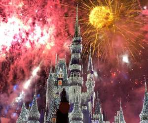 beautiful, disney castle, and fireworks image