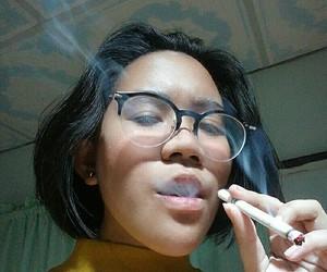 cigarettes, girl smoking, and smoking image