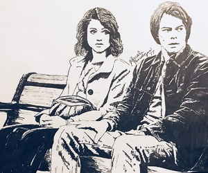 drawing, fanart, and stranger things image