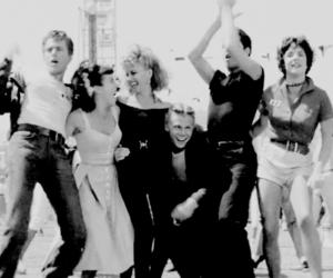 grease, John Travolta, and olivia newton john image