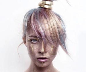bronce, glitter, and gold image