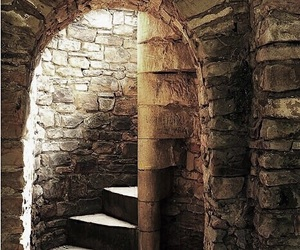 castle, medieval, and stairs image