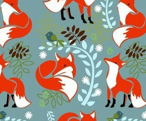 fox, pattern, and background image