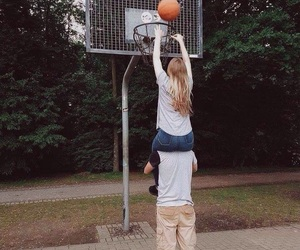 Basketball, couple, and goals image