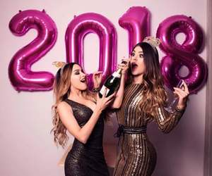champagne, dress, and hairstyle image