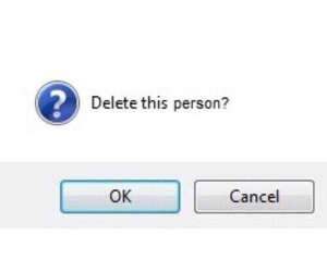 delete, quotes, and person image