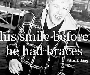 niall horan, beautiful, and braces image