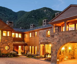 beautiful, mountains, and wood image
