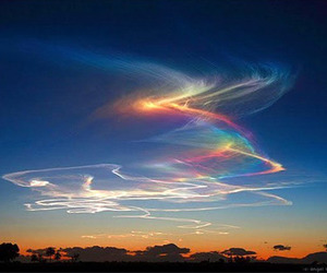 sky, rainbow, and nature image