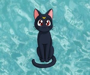 anime, cat, and luna image