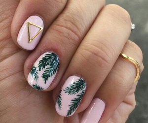 leaf, nails, and rings image