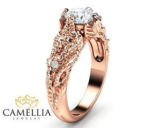 diamond ring, etsy, and diamond alternative image