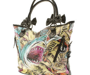 bag, fashion, and iron fist shark image