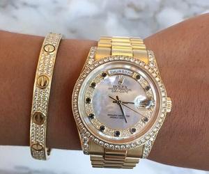 bracelet, cartier, and diamond image