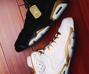 jordan, shoes, and gold image