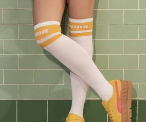 puma, socks, and yellow image