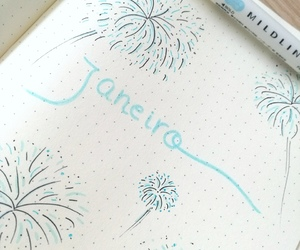blue, fireworks, and january image