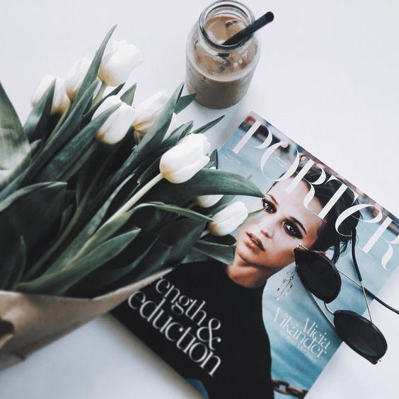 flowers, magazine, and tumblr image