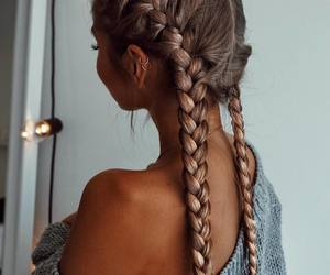 beautiful, braids, and girl image
