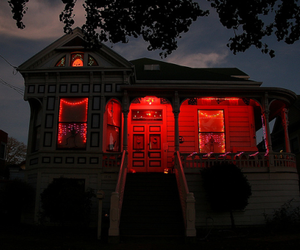 home, red, and light image