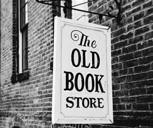 black and white, old, and books image