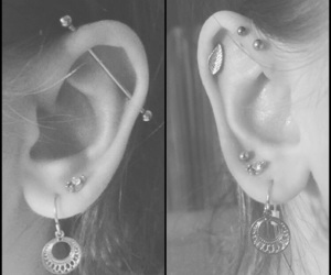 body modification, earrings, and helix image
