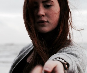 cold, redhair, and sea image