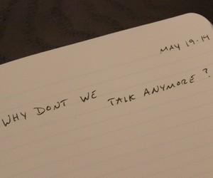 sad, quotes, and talk image