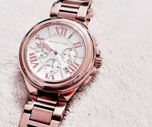 watch, rose gold, and gold image