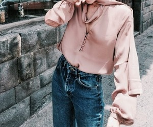 fashion, outfits, and pink blouse image