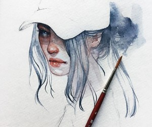 anime, fashion, and painting image