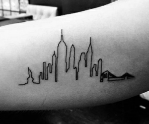 manhattan, new york, and tattoo image