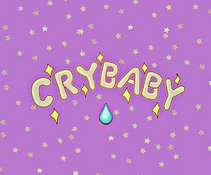 cry baby, stars, and wallpaper image